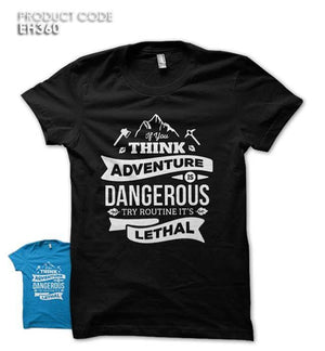 THINK ADVENTURE Half Sleeves Tshirt (EH360)