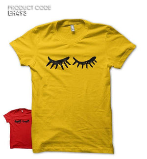 EYE LASHES Half Sleeves Tshirt (EH493)
