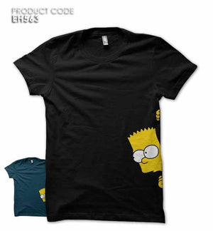 HIDING SIMPSON Half Sleeves Tshirt (EH563)