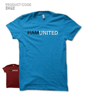 I AM UNITED  Half Sleeves Tshirt (EH62)