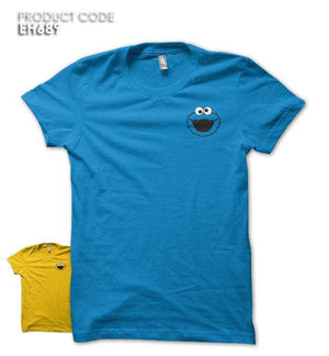 COOKIE MONSTER POCKET Half Sleeves Tshirt (EH710A)
