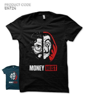 MONEY HEIST Half Sleeves Tshirt (EH724)