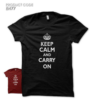 KC CARRY ON  Half Sleeves Tshirt (EH77)