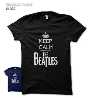 KC LISTEN TO THE BEATLES  Half Sleeves Tshirt (EH83)