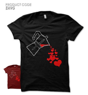 LOVE FROM BLOOD  Half Sleeves Tshirt (EH95)