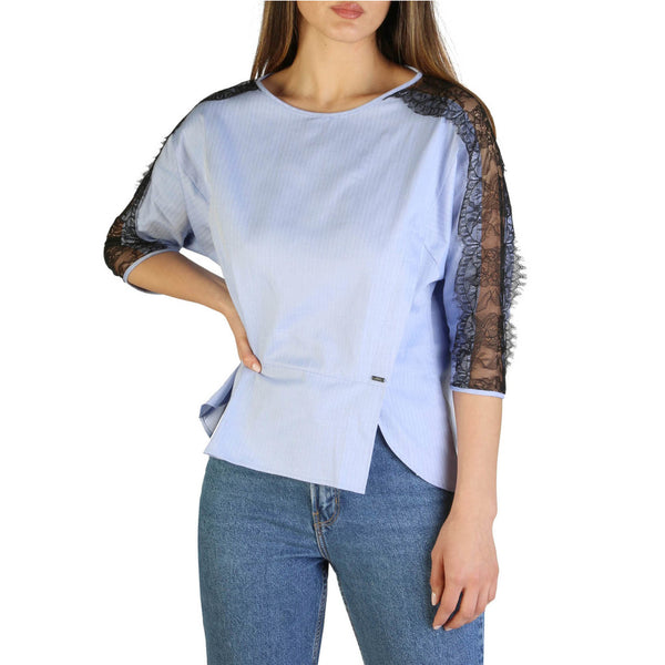 Armani Exchange Top Blu Donna Cotone Mod.3GYH16_YNT5Z