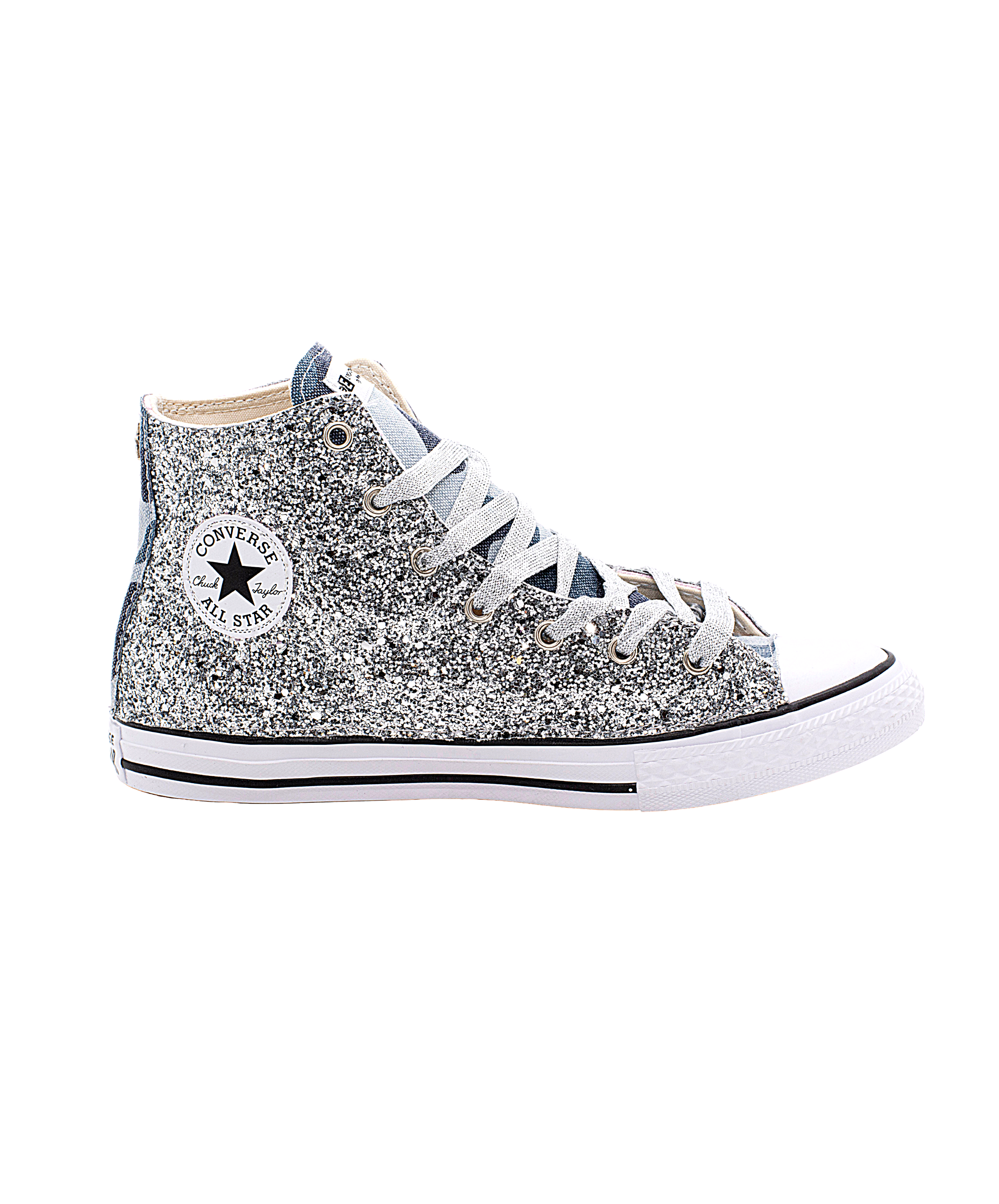 EticaEstetica Custom Sneaker Converse All Star Top Grigia Donna Glitter
