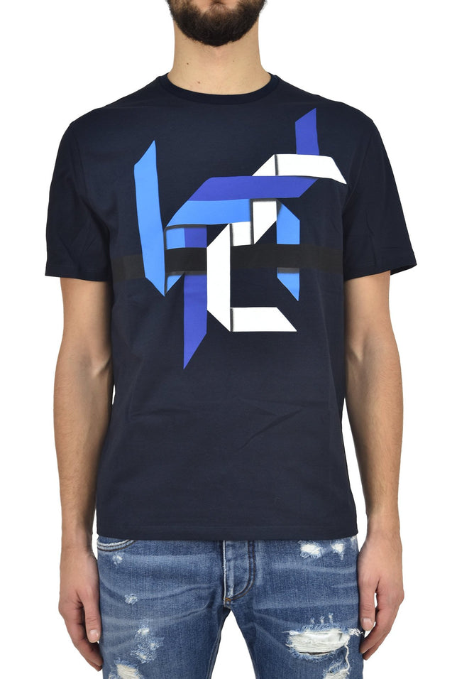 Neil Barret T shirt Blu Navy