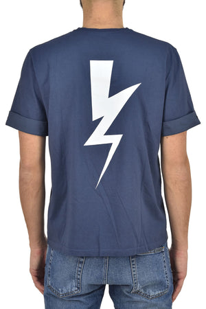 Neil Barret T shirt Flash Blu