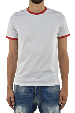 Bikkembergs T-Shirt Mare Bianco e Rosso