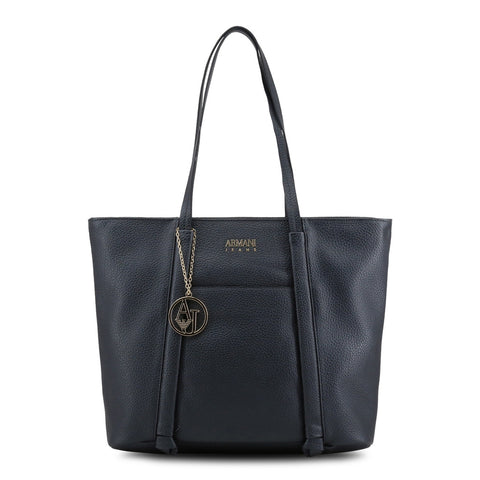 Armani Jeans Borsa Shopping Bag Blu Donna Pelle Mod.922341_CD813