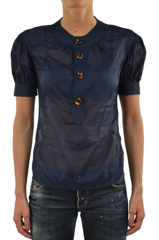 Dsquared2 Camicietta Blu Donna Bottoni Mod.S75DL0183S35278080