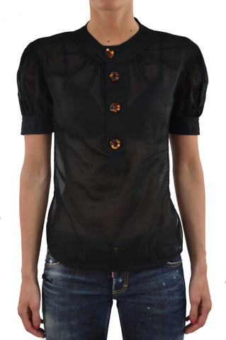 Dsquared2 Camicietta Nera Donna Bottoni Mod.S75DL0183S35278090