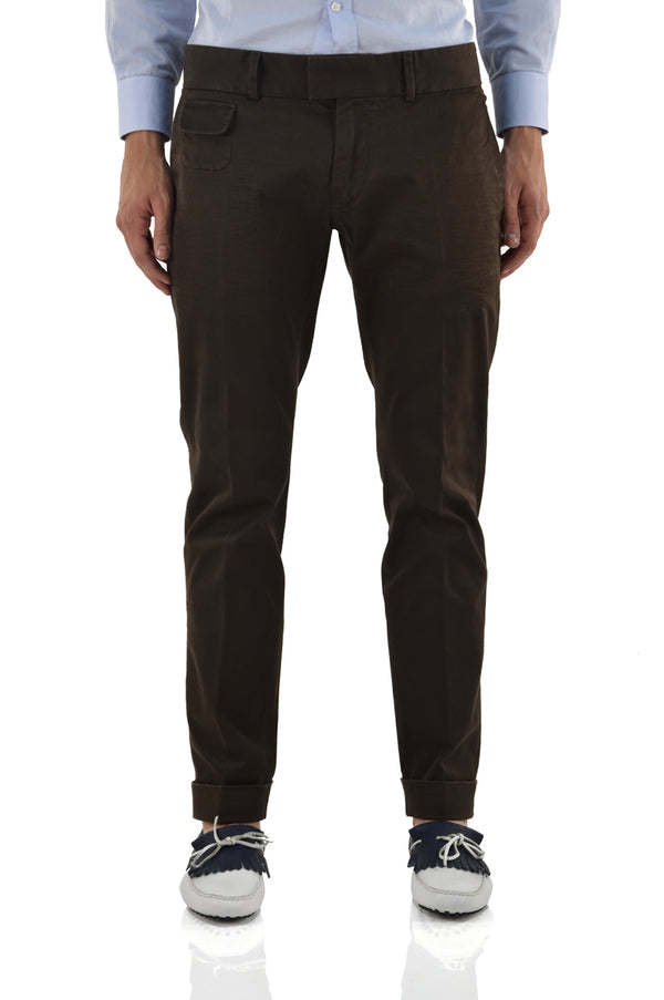 Dsquared2 Pantalone Marrone con Taschino