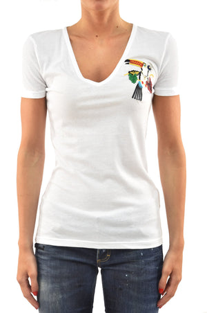 Dsquared2 T-Shirt Bianca Pappagallo