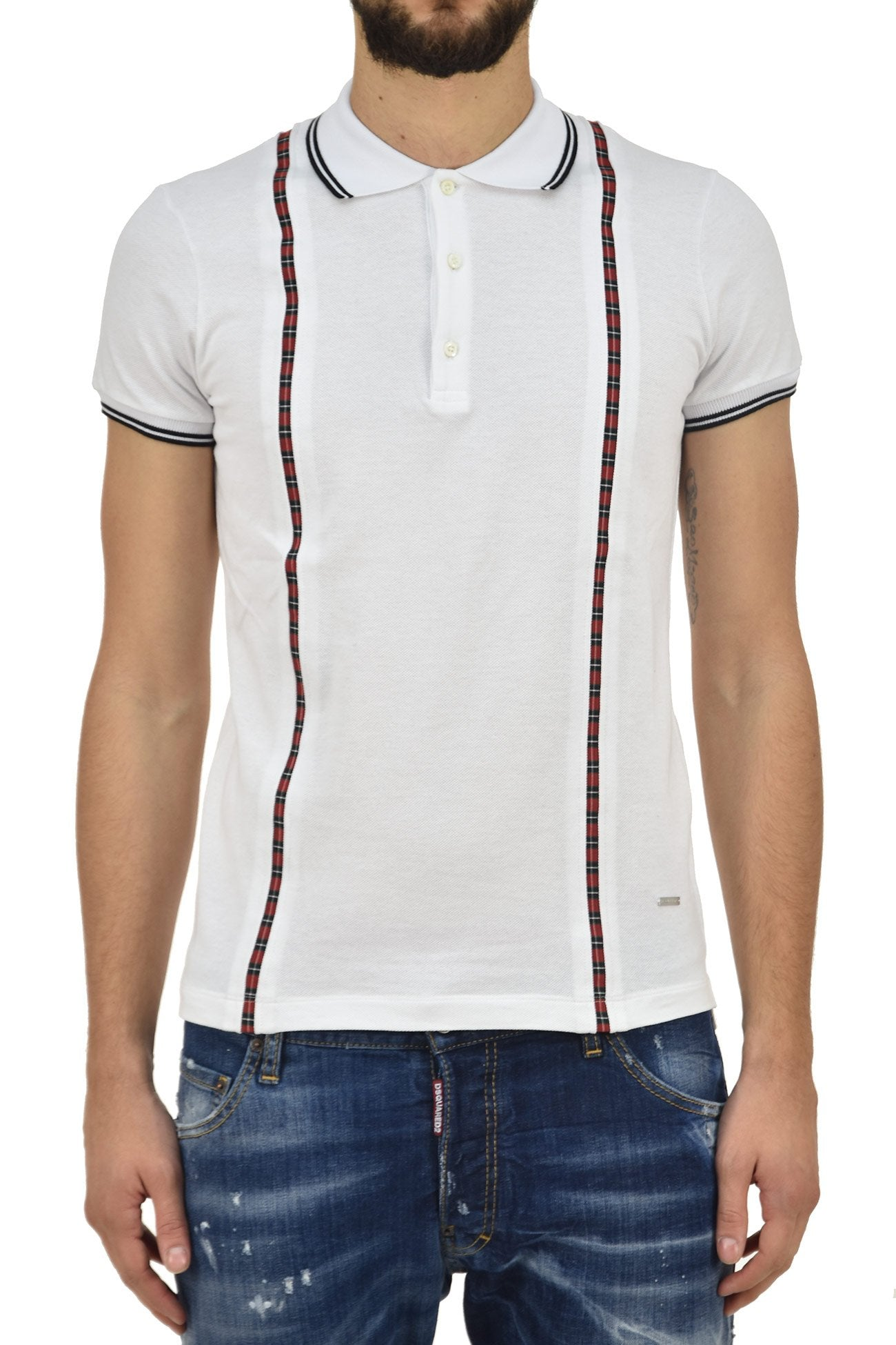 Dsquared2 T-shirt Polo Bianca Uomo Mod.S71GD0463S23033100