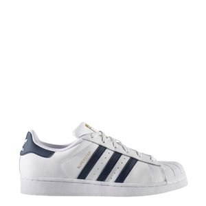 Women's Adidas Superstar BY3721  White/Collegiate Navy/Gold Metallic