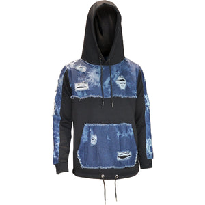 MEN'S FLEECE DENIM PO HOODY