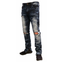 MEN'S WASHED ZIPPER DENIM JEAN