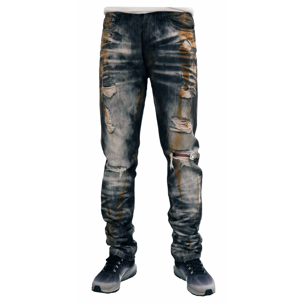 MEN'S WASHED RIP DENIM JEAN