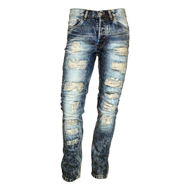 MEN'S WASHED RIPPED JEAN