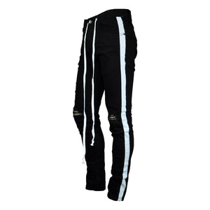 MEN'S STRIPED TWILL PANT