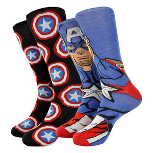 MEN'S CAPTAIN AMERICA 2-PK SOCKS