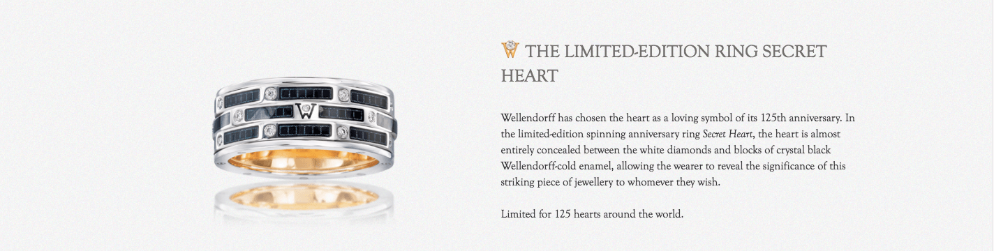 Wellendorff Limited Edition Ring Secret Heart