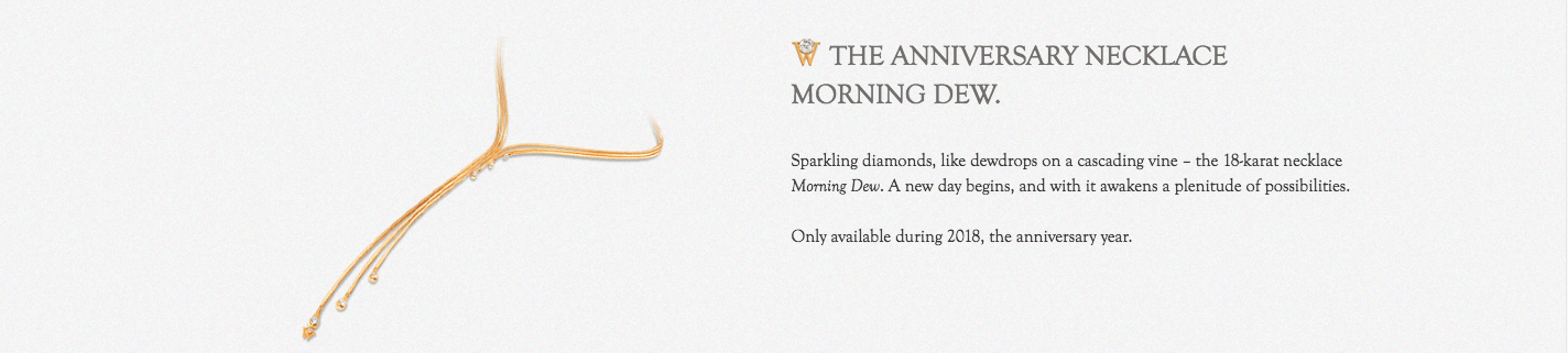 Wellendorff The Anniversary Necklace Morning Dew