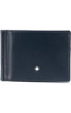 Montblanc Meisterstuck Wallet 6cc with Money Clip (Navy) MB126205