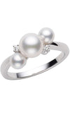 Mikimoto Akoya Cultured Pearl and Gold Ring MRQ10031ADXW