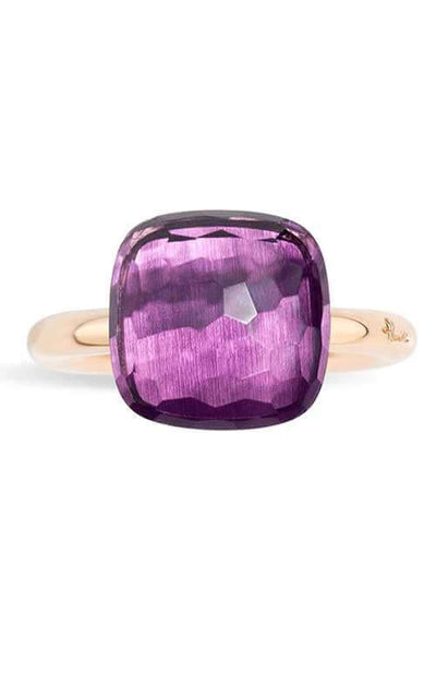 Pomellato Nudo Rose Gold and Amethyst Ring (A.B201/O6/OI) Bandiera