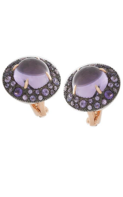Mimí Shan Teki Earrings Rose Gold, Amethyst and Violet Sapphires (O457C8AZ3)