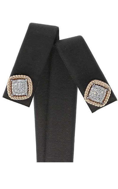 Roberto Coin New Barocco Stud Earrings Rose Gold and Diamond (7771364AHERX)