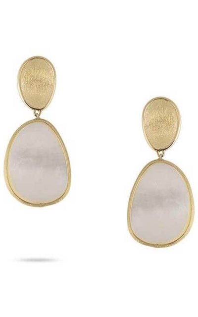 Marco Bicego Lunaria Earrings Yellow Gold and Diamond (OB1403 B MPW)