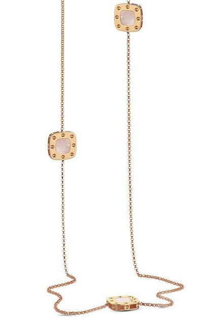 Roberto Coin Pois Moi Necklace Rose Gold and Mother of Pearl (777975AX31MP)