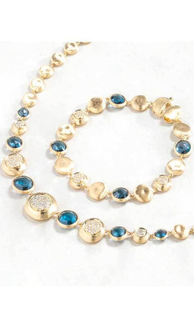 Marco Bicego Jaipur Gold, Topaz and Diamond Bracelet (BB2194-B TPL01)
