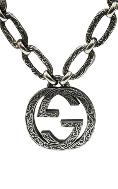 Gucci Interlock-G Silver Necklace (YBB52489000100U)