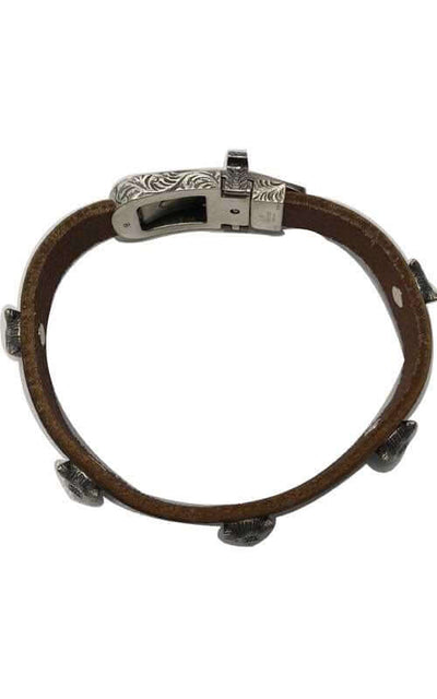 Gucci Angry Forest 10mm Leather & Silver Bracelet (YBA524907001018)