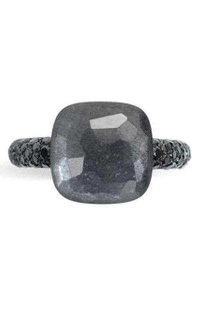 Pomellato Nudo Ring Gray Moonstone. Titanium Gold Diamond A.B401BBT7AD