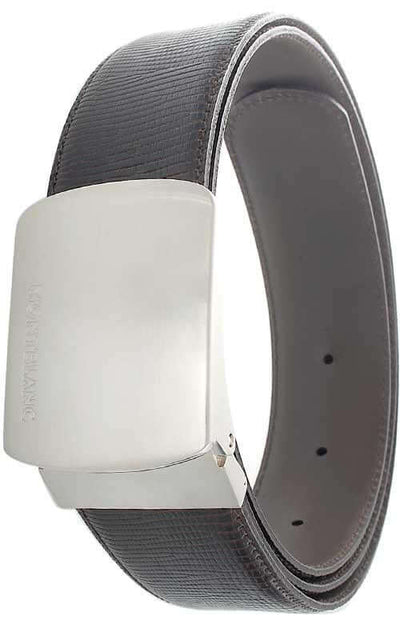 Montblanc Casual Line Belt Brown Calf and Palladium Buckle (09870) | Bandiera Jewellers Toronto