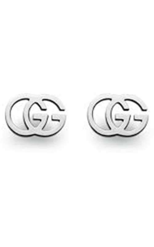 d9755dc28d4263 Gucci GG Tissue Stud White Gold Earrings (YBD09407400100U) | Bandiera  Jewellers Toronto