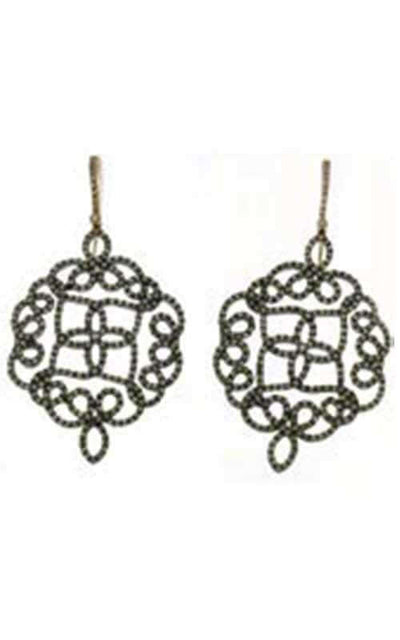 Mimi Arabesque Earrings Silver, Rose Gold and Diamonds (15729-BO-001)