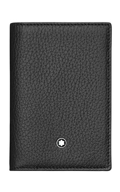 Montblanc Meistertuck Card Holder Trifold Black Leather (113011)