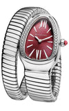 Bulgari Serpenti Tubogas Single-Twirl Steel and Diamonds Watch (102529)