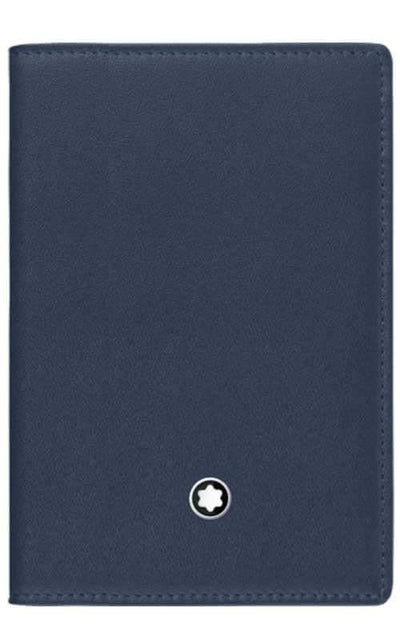 Montblanc Meisterstuck Business Card Holder with Gusset Navy Leather (114554)