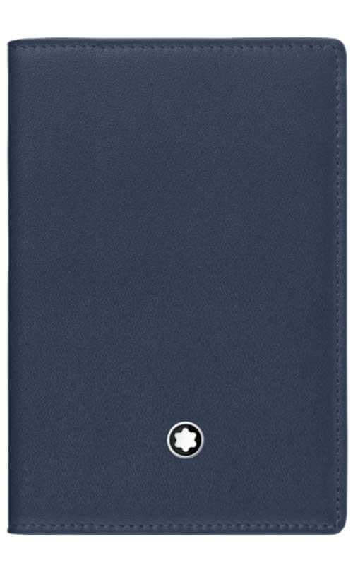 c0f1e1c212aee7 Montblanc Meisterstuck Business Card Holder with Gusset Navy Leather  (114554)