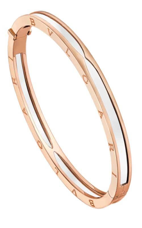 1c70f0c70 Bulgari B.Zero1 Bracelet Pink Gold and White Ceramic (BR857617 ...