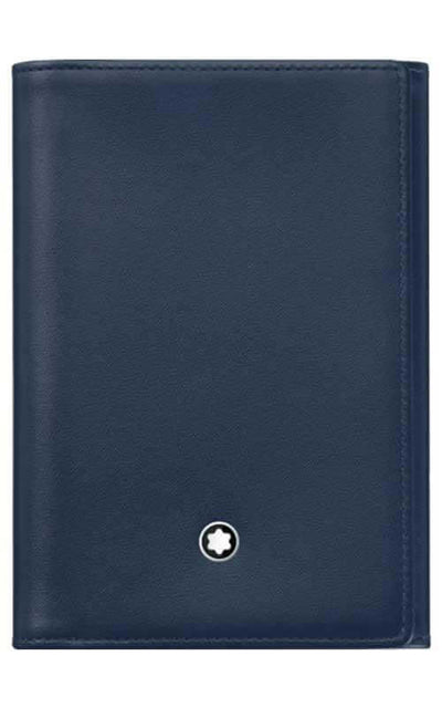 Montblanc Meisterstuck Business Card Holder Trifold Navy Leather (114538)