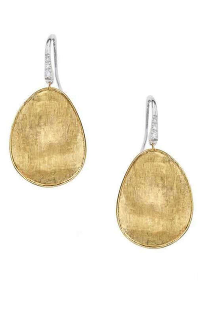 Marco Bicego Lunaria Earrings Yellow Gold and Diamonds (0B1343-A-B1)